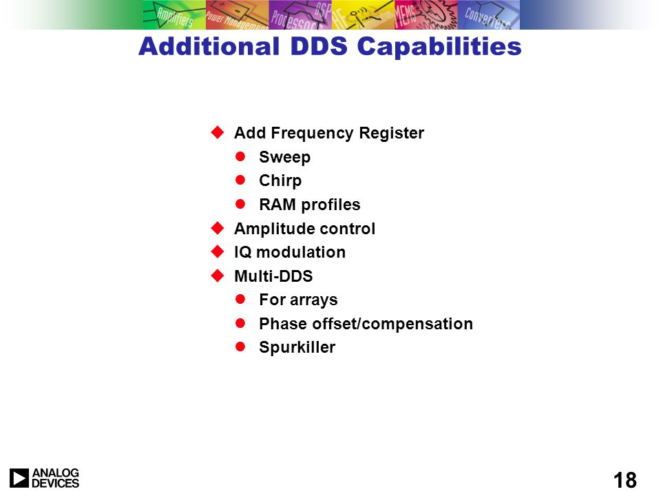 Additional DDS Capabilities