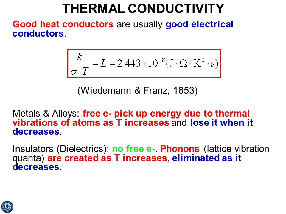 electrical and thermal conductivity pdf