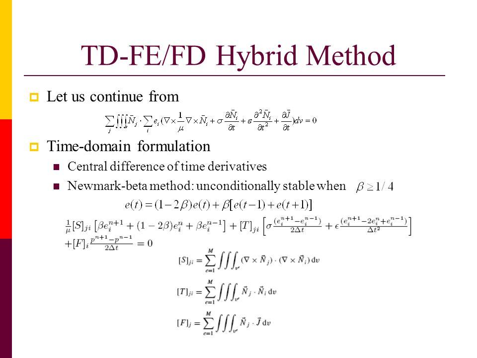 TD-FE/FD Hybrid Method