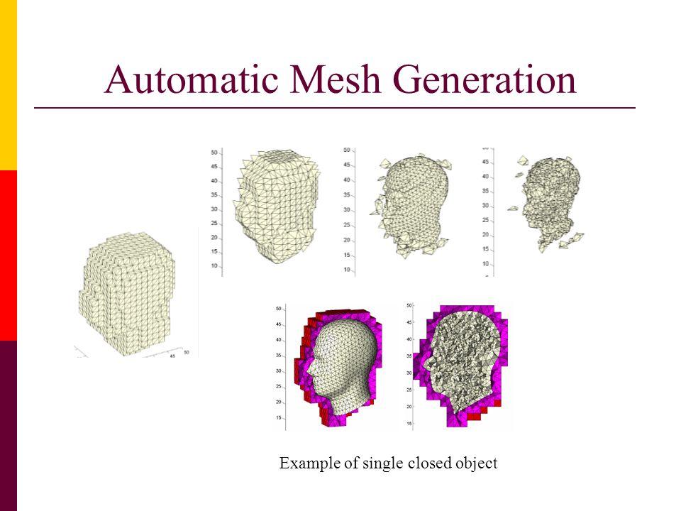 Automatic Mesh Generation