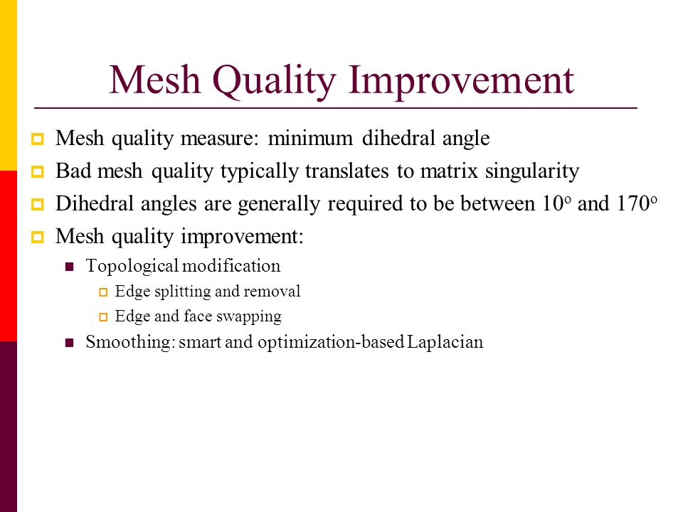 Mesh Quality Improvement