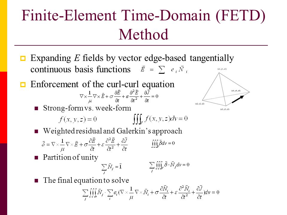 Finite-Element Time-Domain (FETD) Method