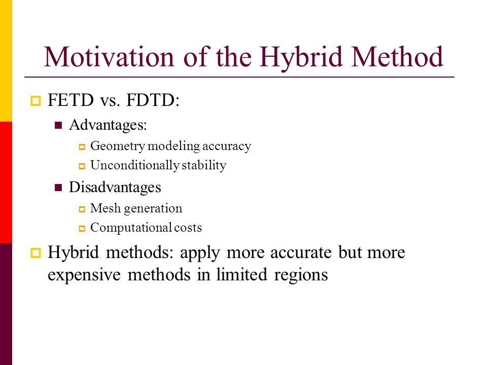 Motivation of the Hybrid Method