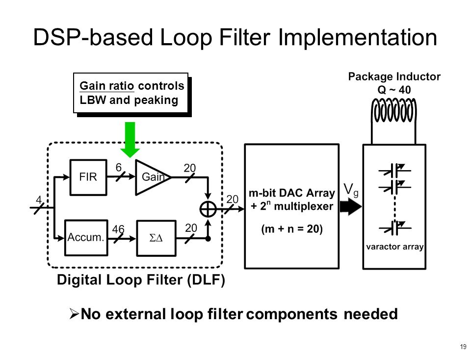 DSP-based Loop Filter Implementation