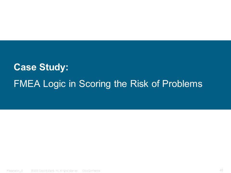 design fmea case study