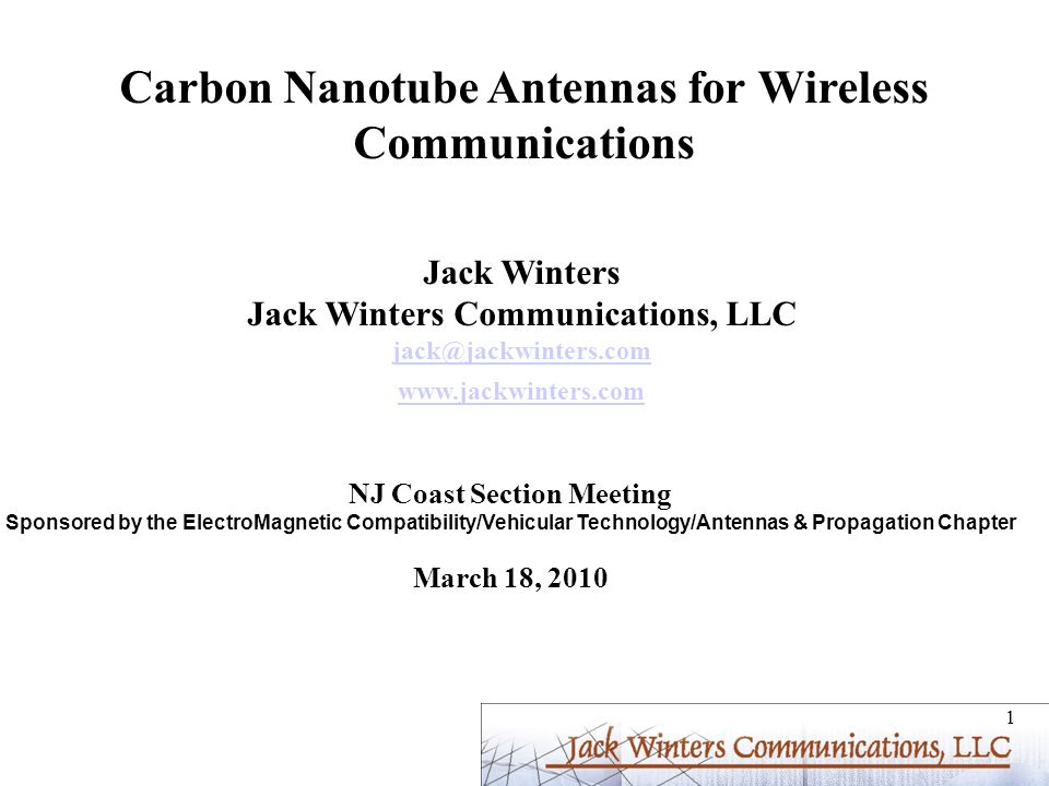 Carbon Nanotube Antennas for Wireless Communications