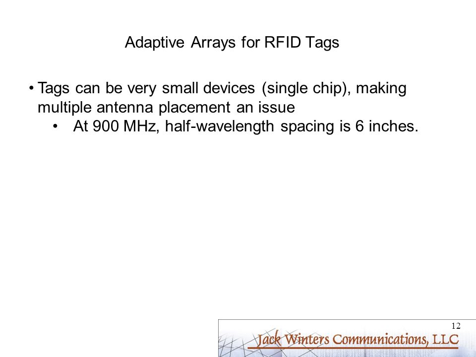 Adaptive Arrays for RFID Tags