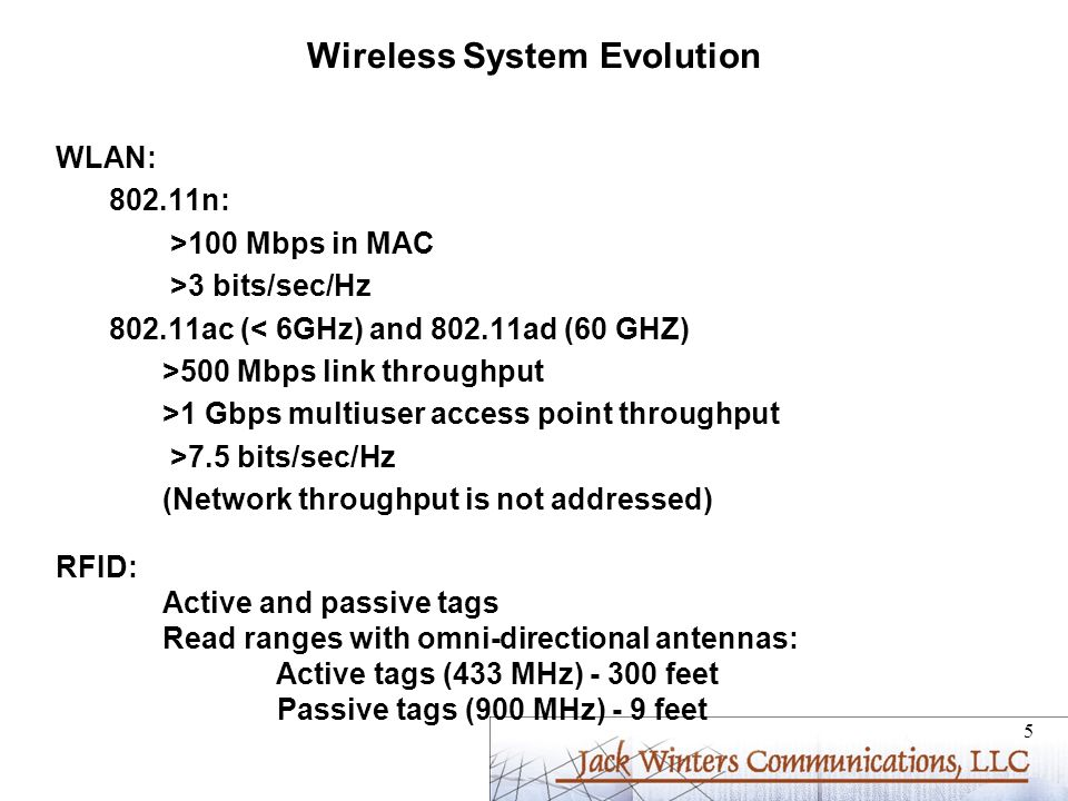 Wireless System Evolution