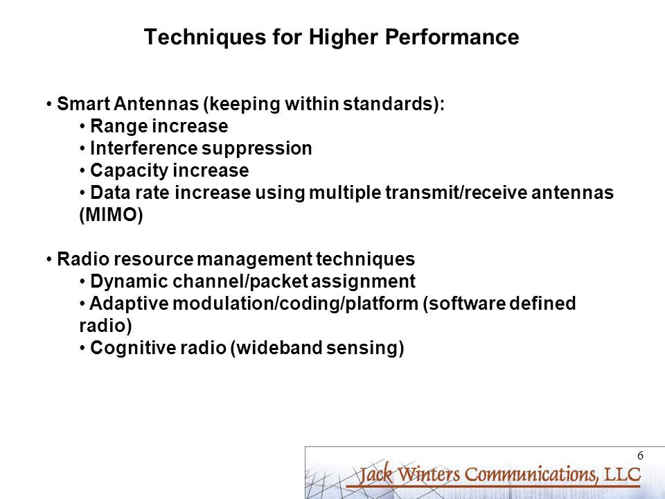 Techniques for Higher Performance