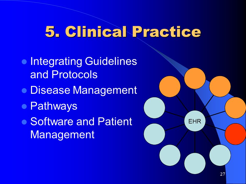 5. Clinical Practice Integrating Guidelines and Protocols
