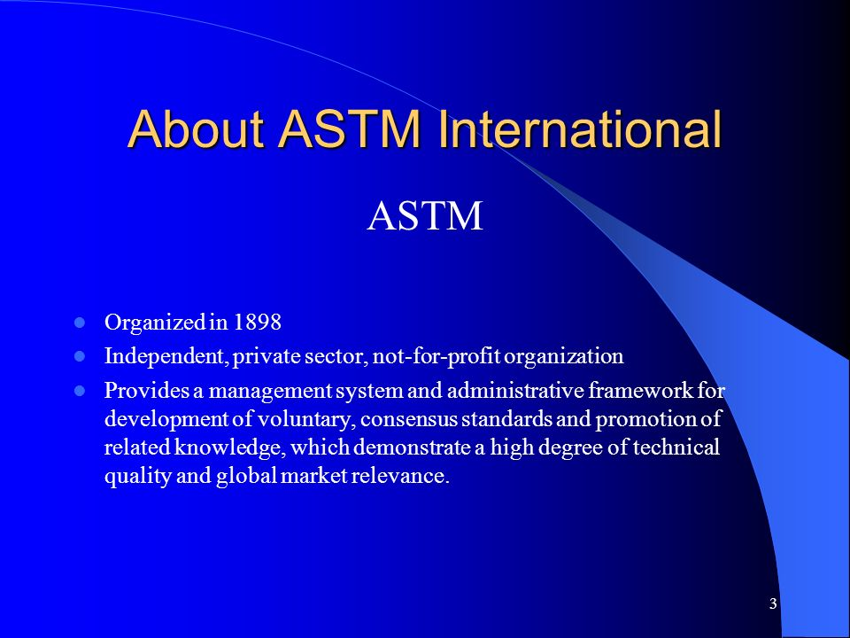 About ASTM International