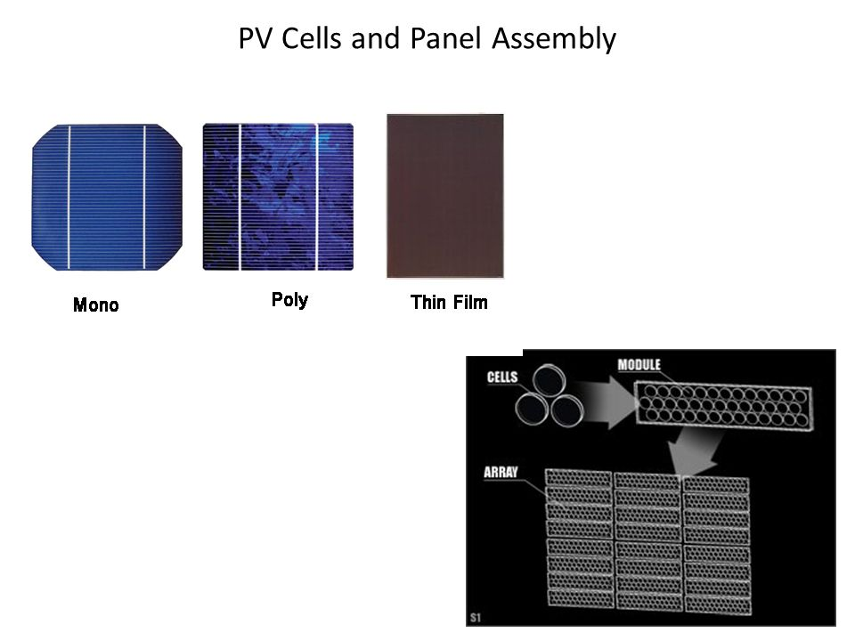 PV Cells and Panel Assembly