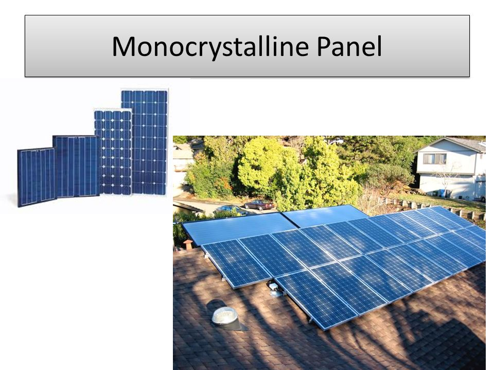 Monocrystalline Panel