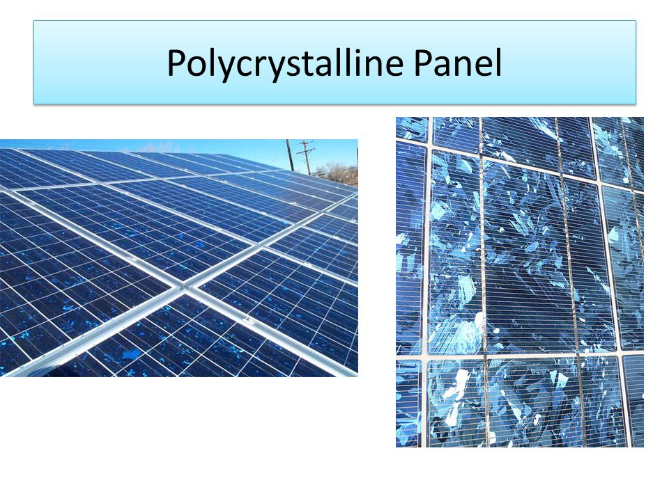 Polycrystalline Panel