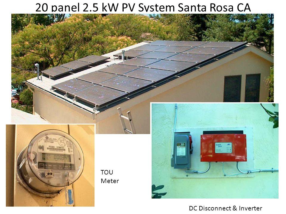 20 panel 2.5 kW PV System Santa Rosa CA
