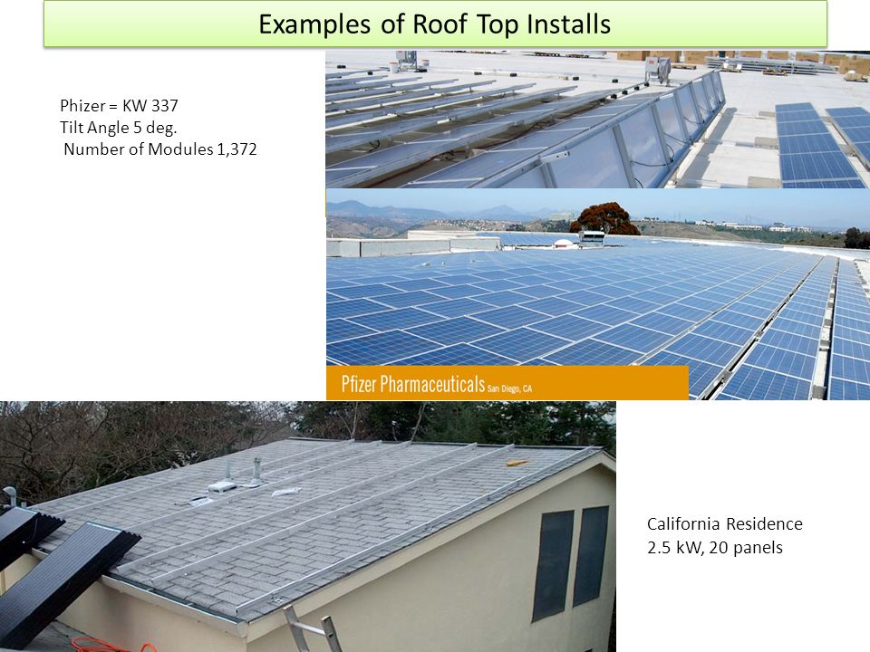 Examples of Roof Top Installs