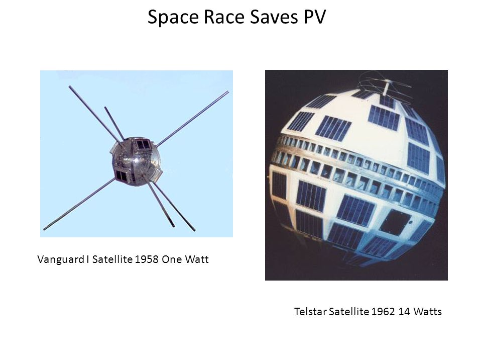 Space Race Saves PV Vanguard I Satellite 1958 One Watt