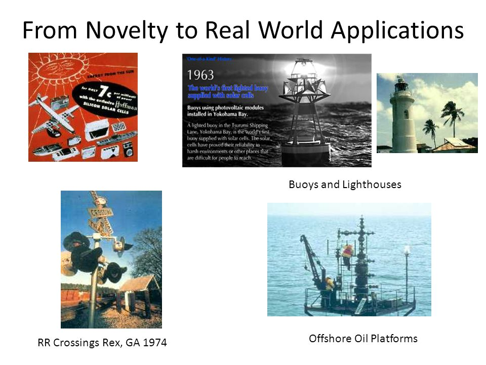 From Novelty to Real World Applications