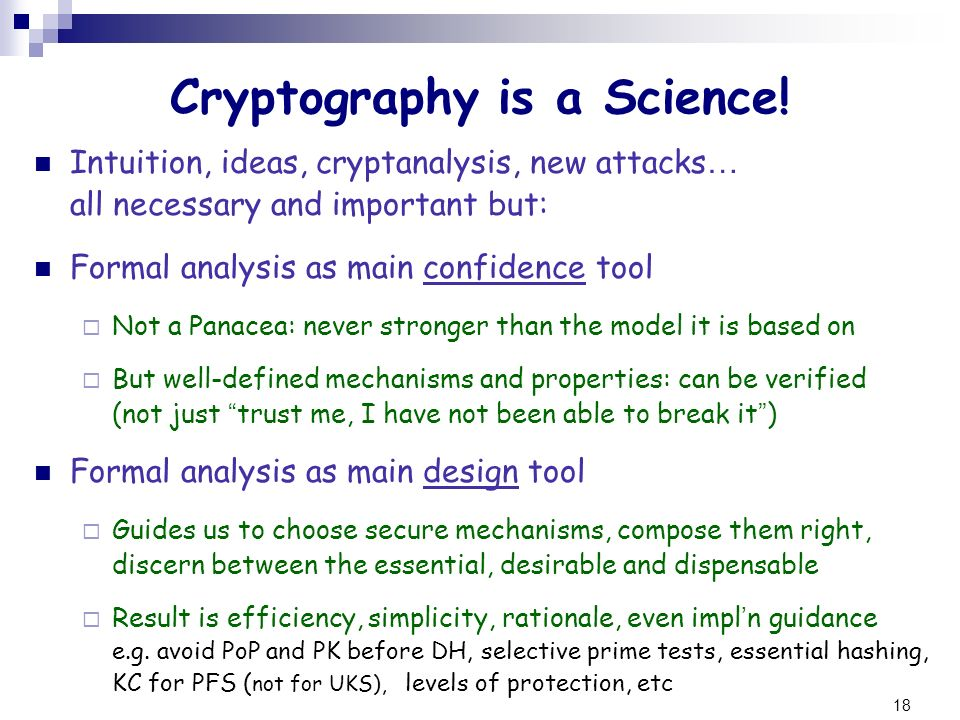 Cryptography is a Science!