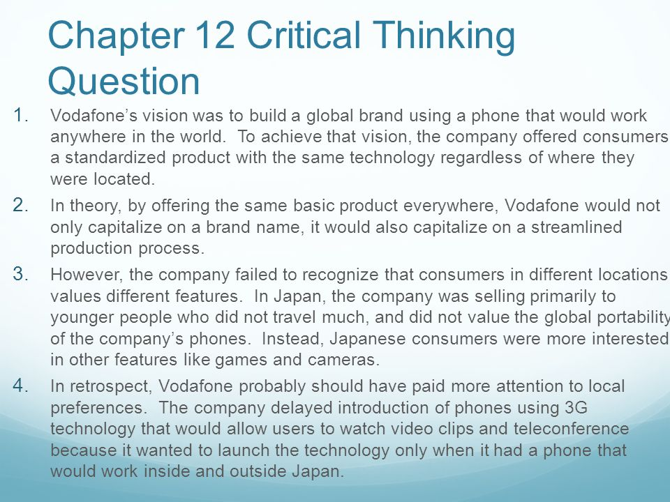 thinking critically ch 12 Introduction to educational research: a critical thinking approach book by: w  newton  chapter 12   qualitative data, analysis, and design chapter 13.