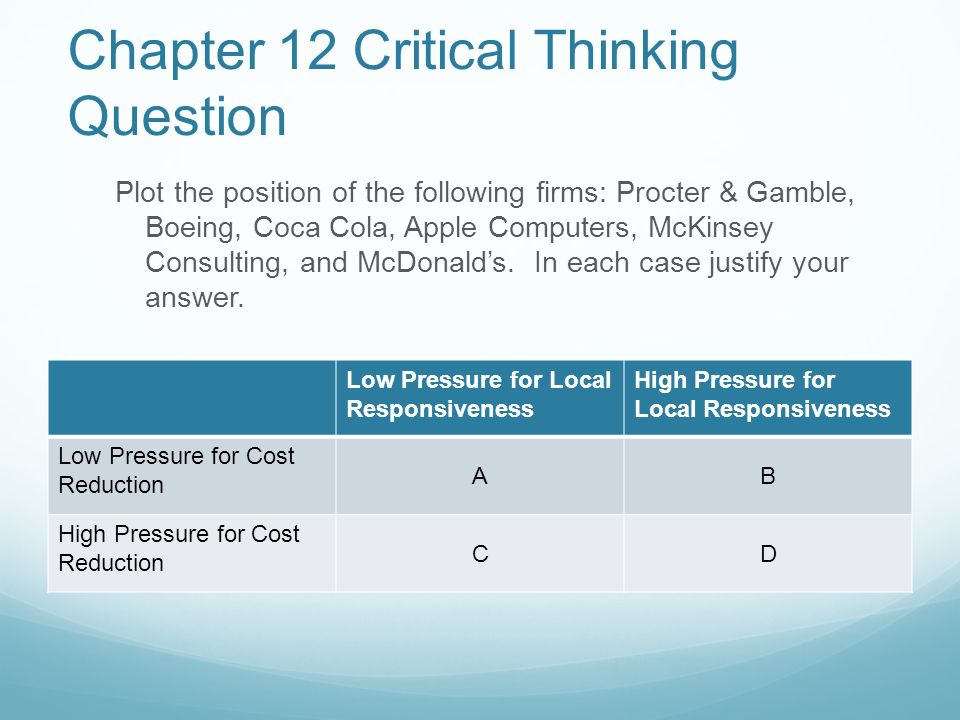 Critical Thinking Questions in Physics