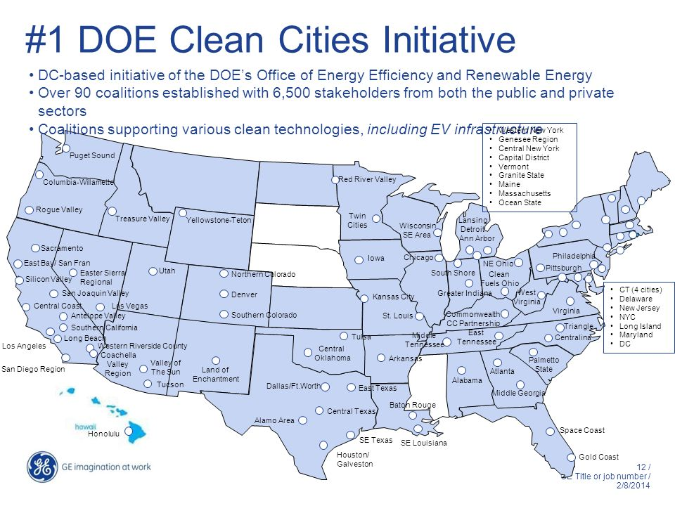#1 DOE Clean Cities Initiative
