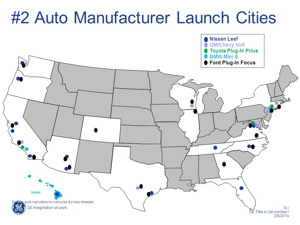 #2 Auto Manufacturer Launch Cities