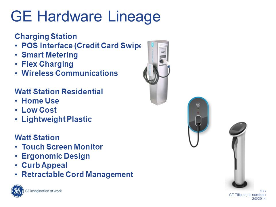 GE Hardware Lineage Charging Station POS Interface (Credit Card Swipe)