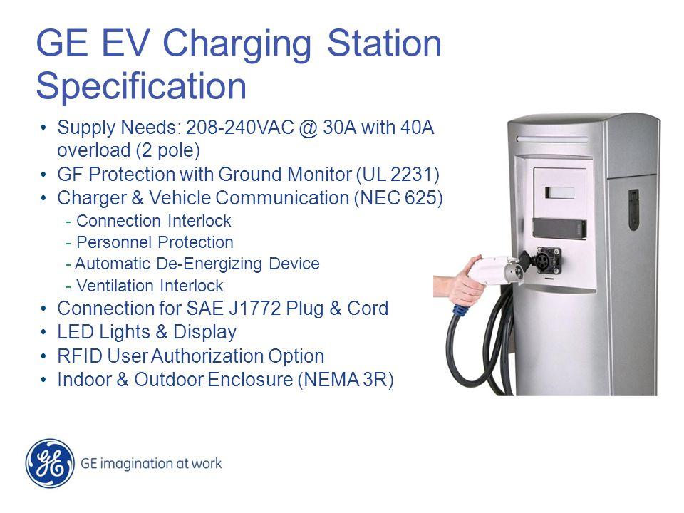 GE EV Charging Station Specification