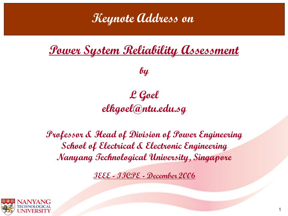 Power System Reliability Assessment