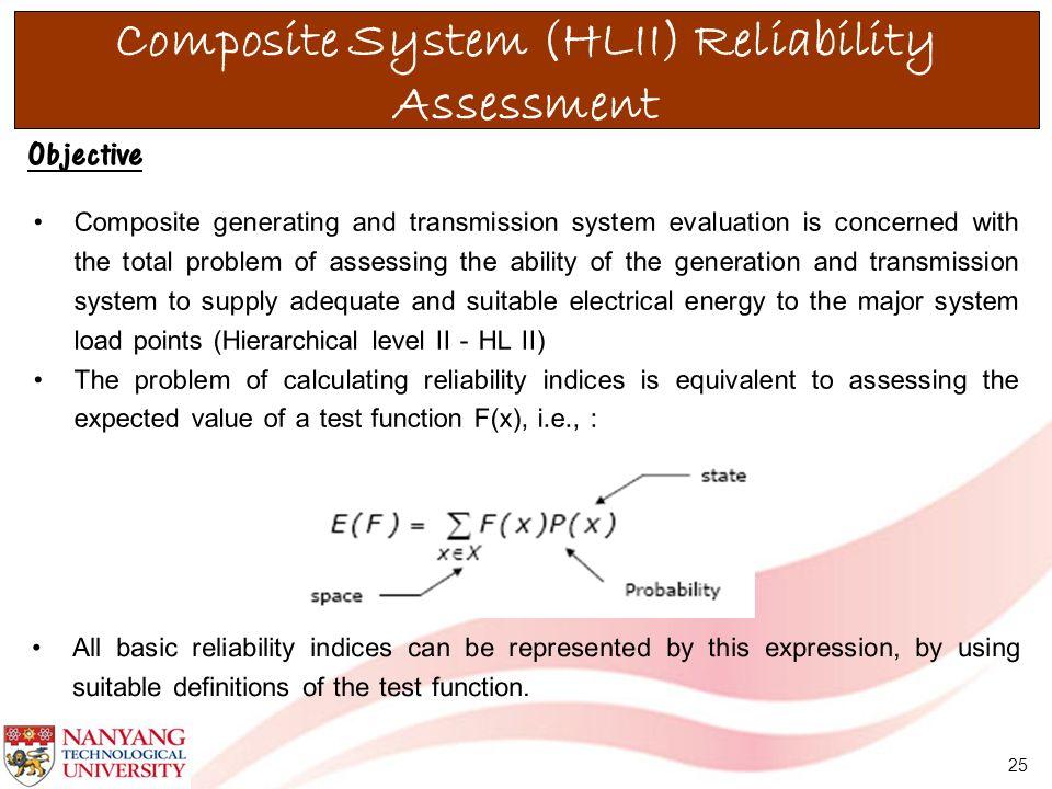 Composite System (HLII) Reliability Assessment