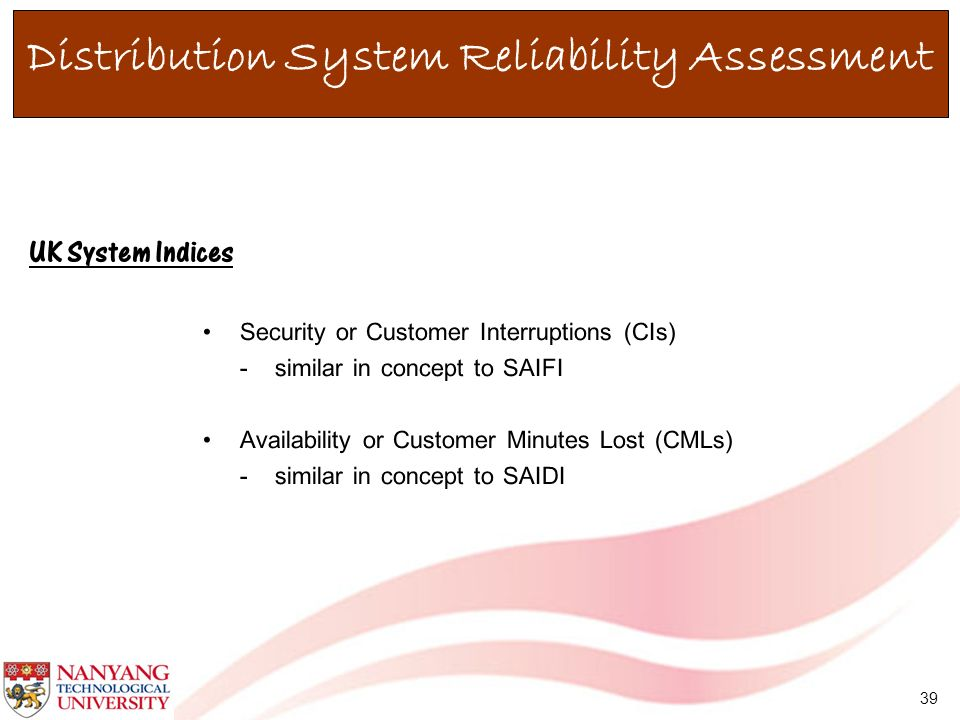 Distribution System Reliability Assessment