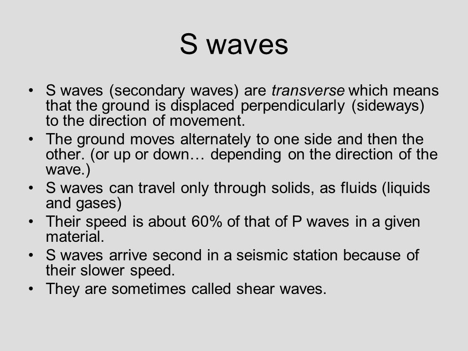 Can S Waves Travel Through Gases