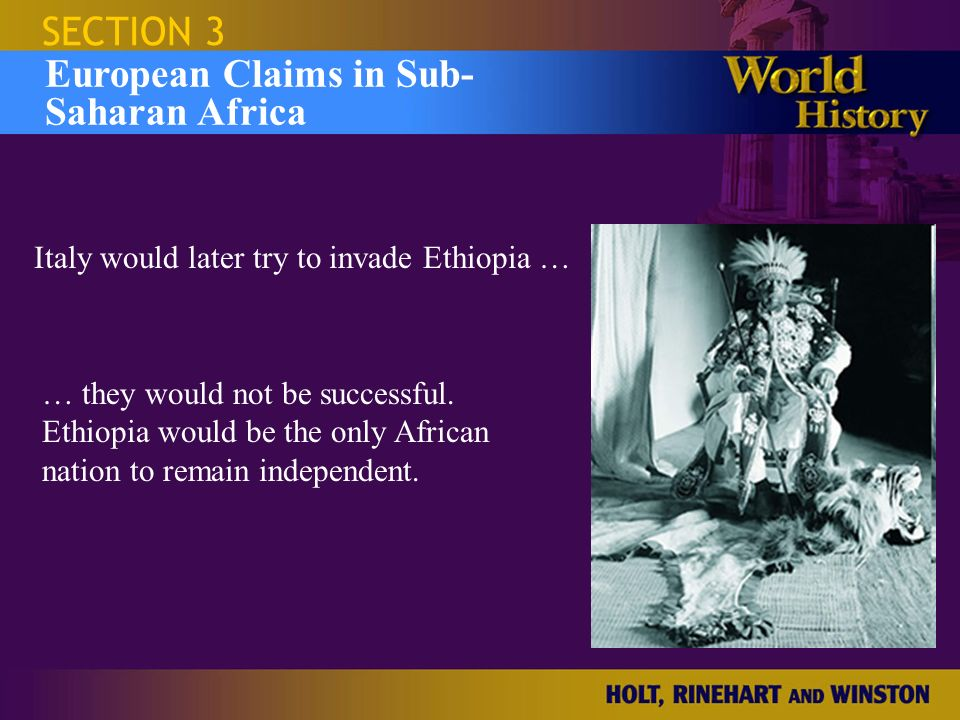 European Claims in Sub- Saharan Africa