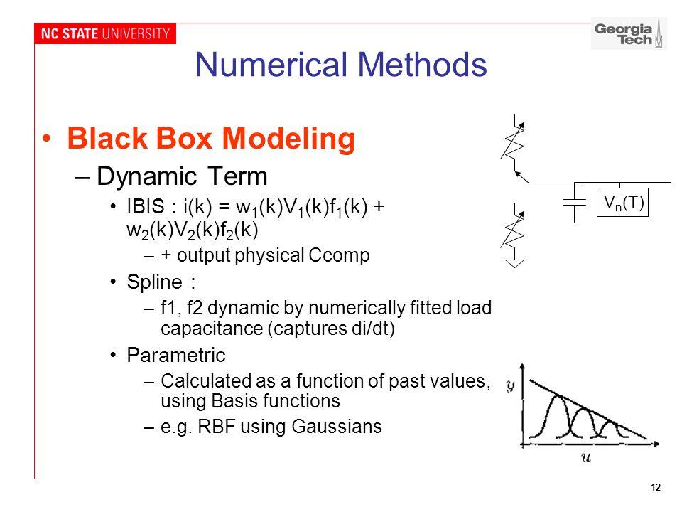 Numerical Methods Black Box Modeling Dynamic Term