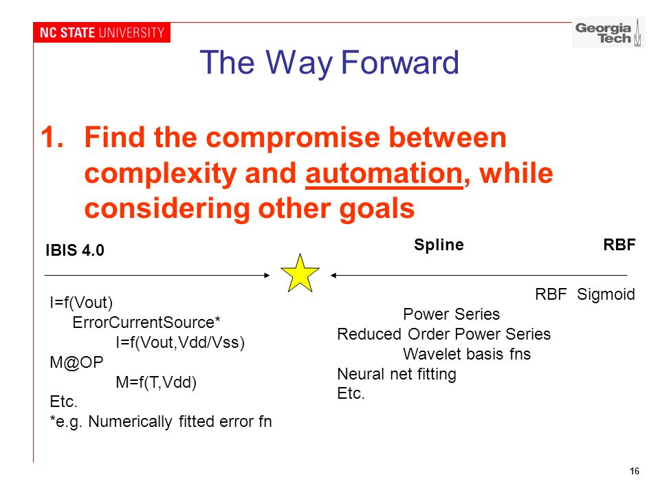 The Way Forward Find the compromise between complexity and automation, while considering other goals.
