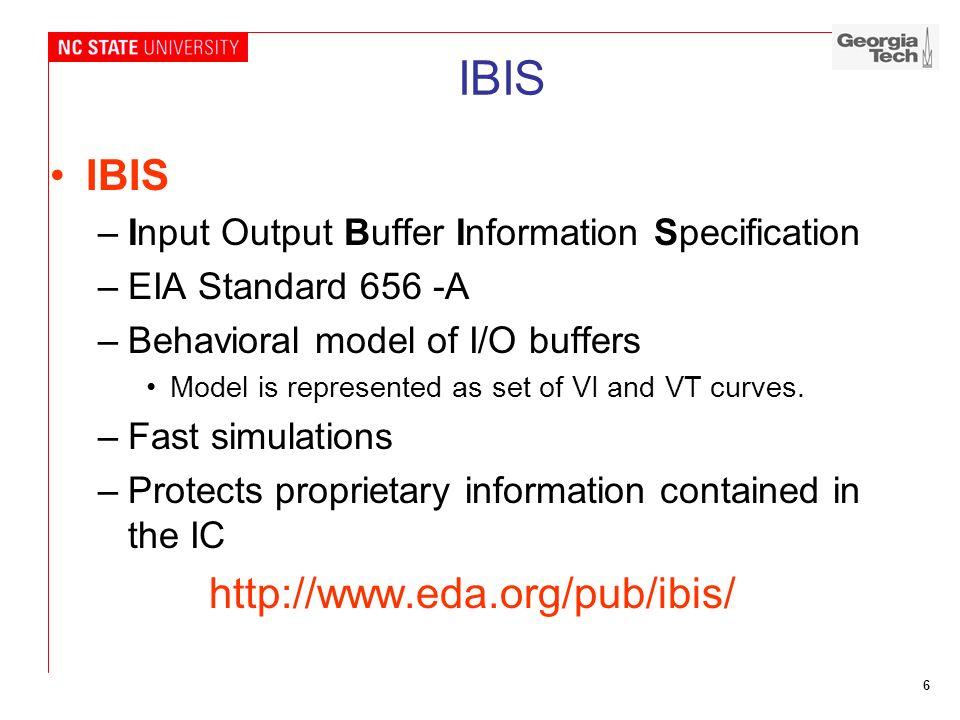 IBIS IBIS http://www.eda.org/pub/ibis/