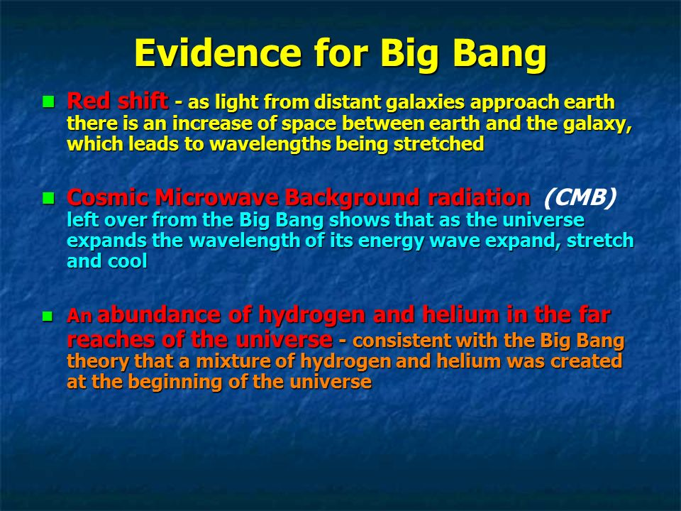 an introduction to the theory of the universe the big bang theory I introduction 2 ii  the standard big bang theory asserts that the universe was born at some moment t= 0 about 15 billion years ago.