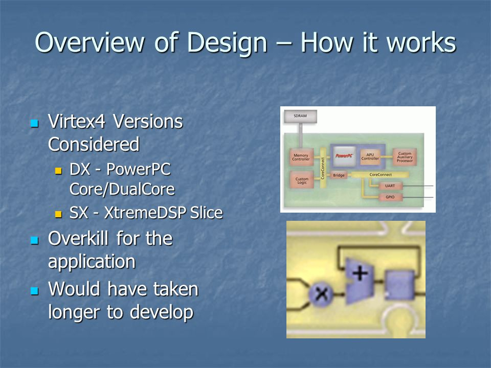 Overview of Design – How it works