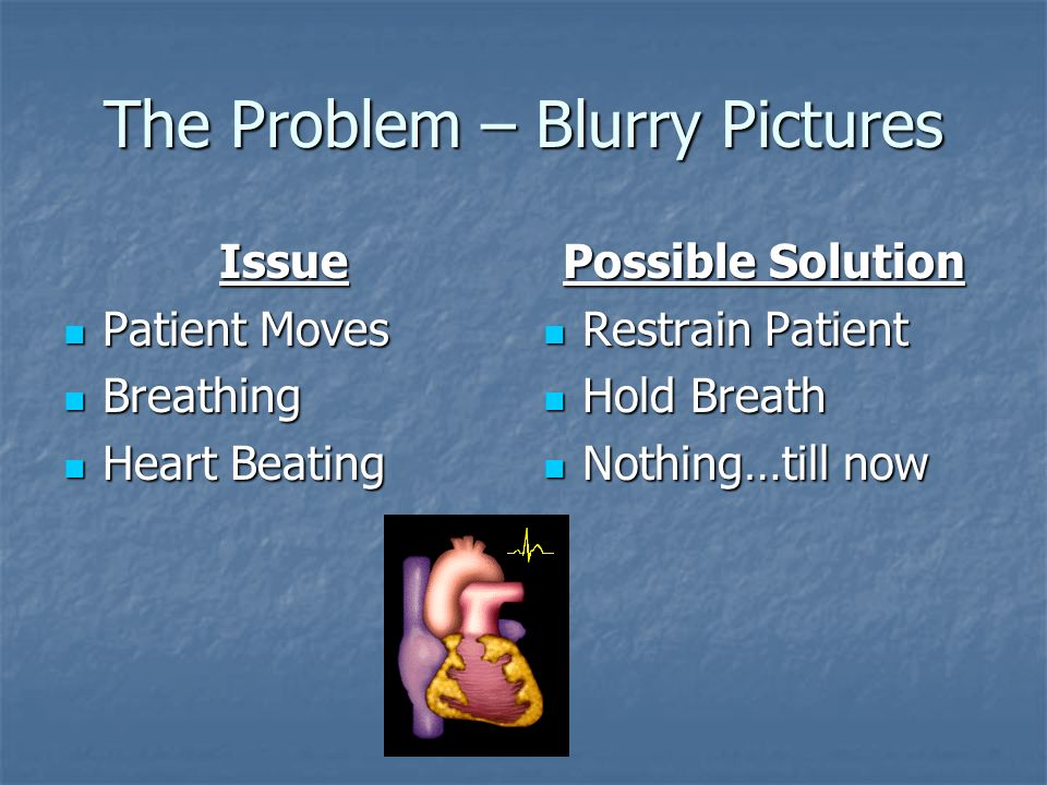 The Problem – Blurry Pictures