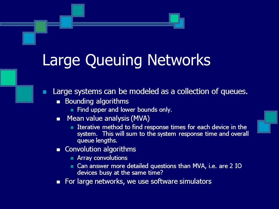 Large Queuing Networks
