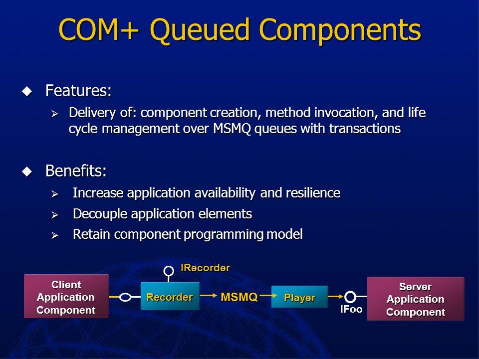 COM+ Queued Components