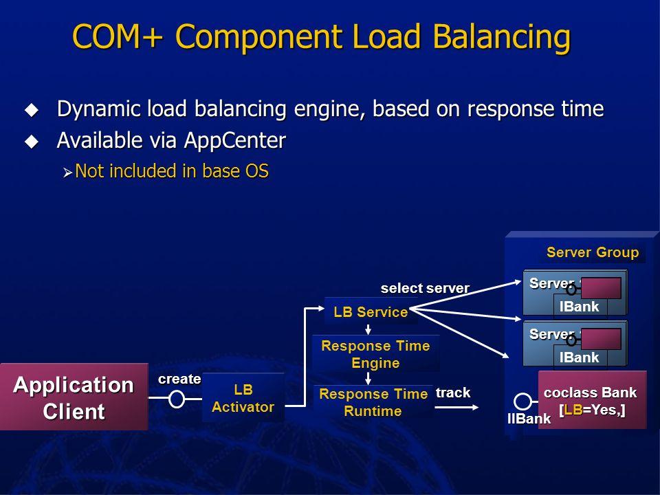 COM+ Component Load Balancing