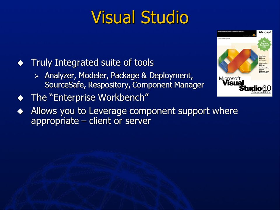 Visual Studio Truly Integrated suite of tools