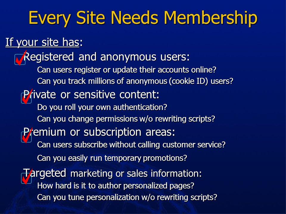 Every Site Needs Membership