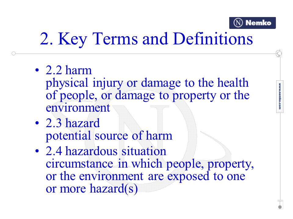 2. Key Terms and Definitions