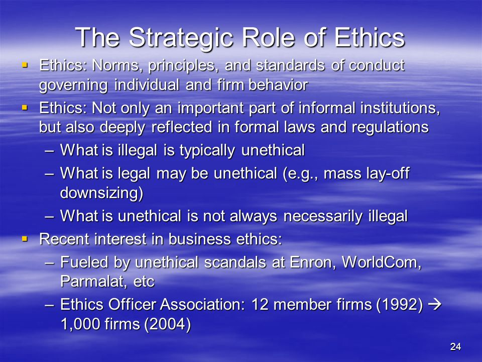 an analysis of the crucial part of the ethics of business Thus, business ethics is 51 importance of business ethics to small ventures donovan a mcfarlane american economy are small businesses that dealing with values related to the nature of contribute significantly to economic prosperity, individuals' conduct, and business ethics translates growth, and well-being.