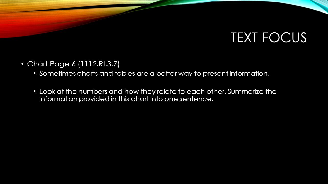 Text focus Chart Page 6 (1112.RI.3.7)