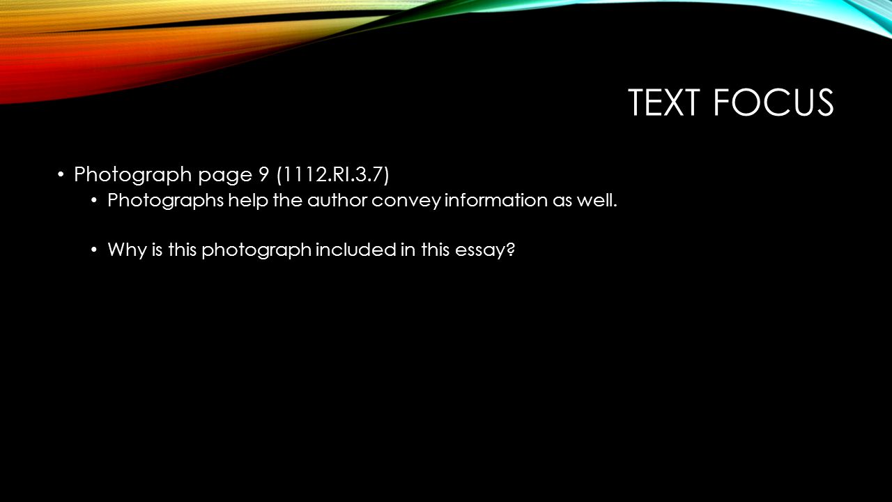 Text focus Photograph page 9 (1112.RI.3.7)