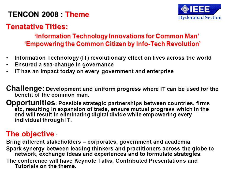 'Information Technology Innovations for Common Man'